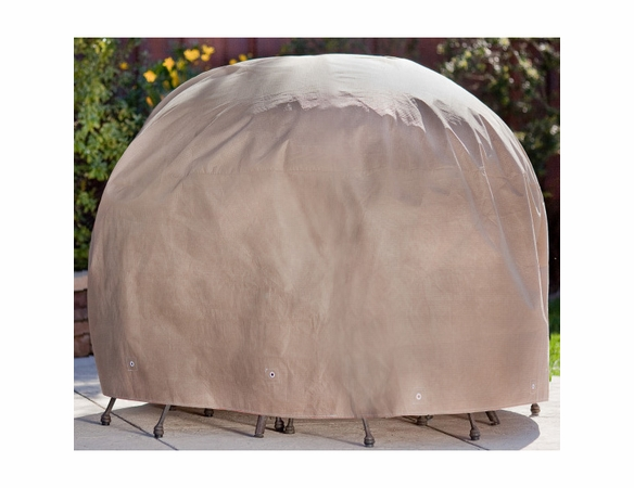 """Duck Covers 76"""" Dia Round Patio Table and Chairs Cover"""