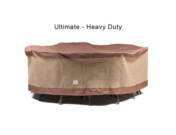 """Duck Covers 90"""" Dia Round Patio Table and Chairs Cover"""