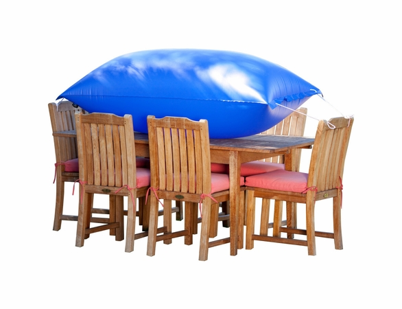 """Duck Covers 92""""L Square Patio Table and Chairs Cover"""