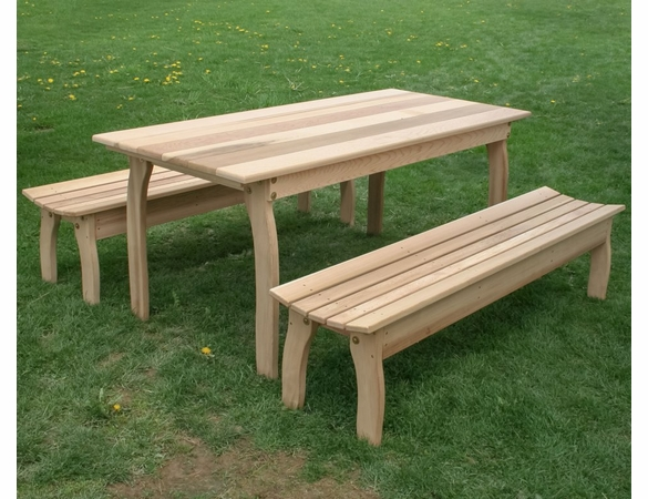 Family Dining Set w/ Backless Benches - Cedar