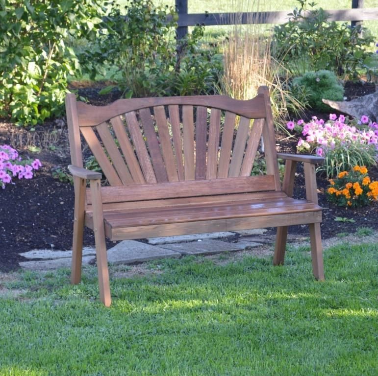 Awe Inspiring Fan Back Cedar Garden Bench 4 5 Or 6 Bralicious Painted Fabric Chair Ideas Braliciousco