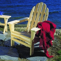 Folding White Cedar Adirondack Chair - Available to Ship Middle of May