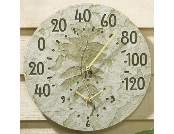 Fossil Sumac Outdoor Thermometer And Clock