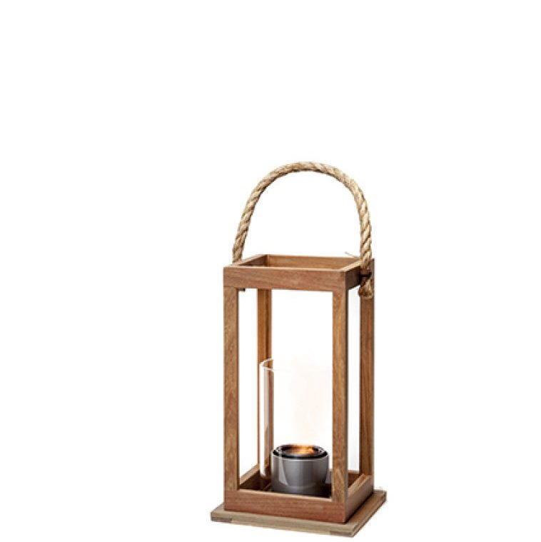 Gel Fuel Brisbane Indoor Or Outdoor Ipe Wood Lantern