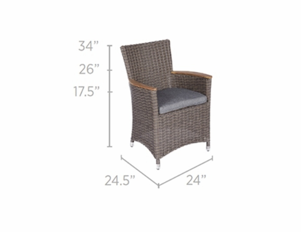 Royal Teak Helena Wicker Chair - 3 Color Options