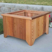 Heritage Cedar Square Planter available in 4 Sizes