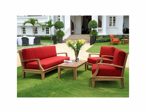Hi Teak Grande Inland Deep Seating Group
