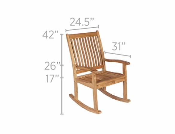 Royal Teak Highback Rocking Chair - Unavailable 'til Begin of Oct