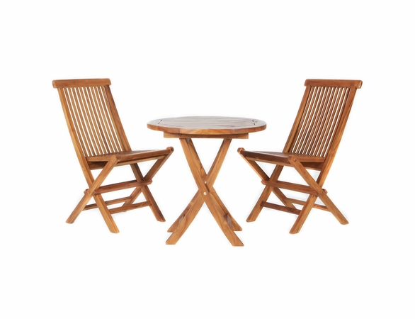 Java Teak 3 Piece Bistro Set - Available to Ship End May/Beginning June