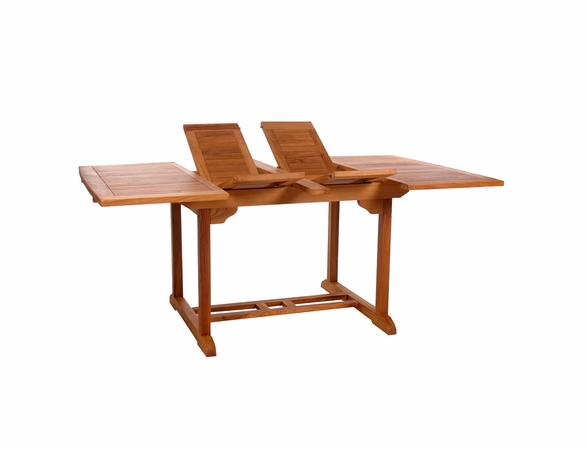Java Teak 5 Piece Butterfly Double Extension Table Dining Set - Available to Ship End of May
