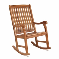 Java Teak Porch Rocking Chair - Available to Ship End Apr/Beginning May