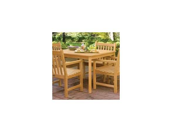 "Oxford Garden 42"" Square Shorea Dining Table - Reduced Closeout Pricing"