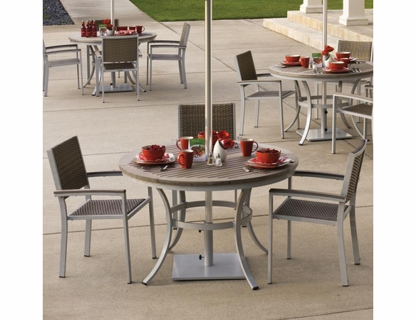 "Oxford Garden 5 Pc Travira Vintage Tekwood 48"" Dining Set - Extra Spring Preview Discounts"