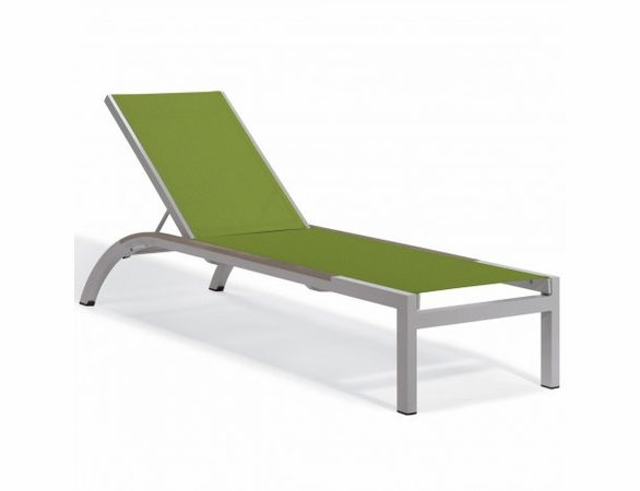 Oxford Garden Argento Armless Sling Chaise Lounge with Inlay Caps (Set of 2) - Sling Color Options - Additional Summer Sale Pricing