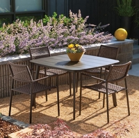 Oxford Garden Eiland 5 Piece Dining Set