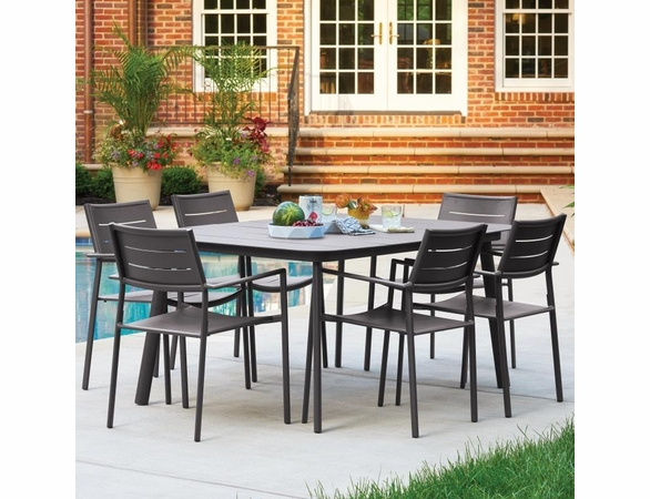Oxford Garden Eiland 6 Piece Dining Set