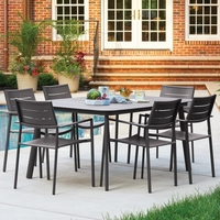 Oxford Garden Eiland 6 Piece Dining Set - Spring Season Sale