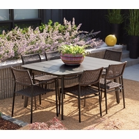 Oxford Garden Eiland 7 Piece Dining Set