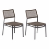 Oxford Garden Eiland Dining Side Chair (Set of 2) - Additional Summer Sale Pricing - Available to Ship Begin of July