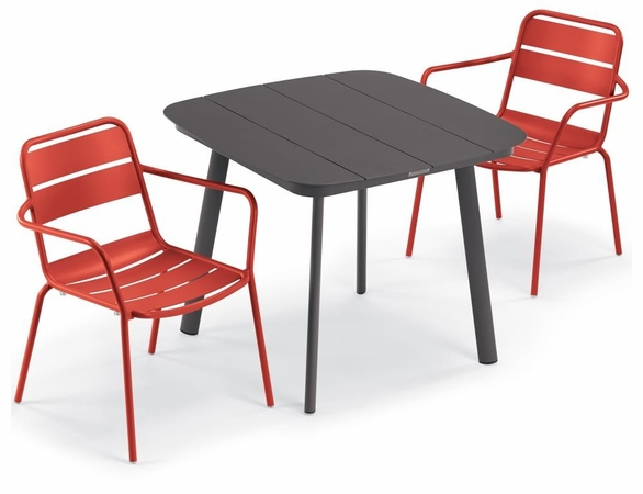 Oxford Garden Kapri 2 Seat Arm Chair Dining Set