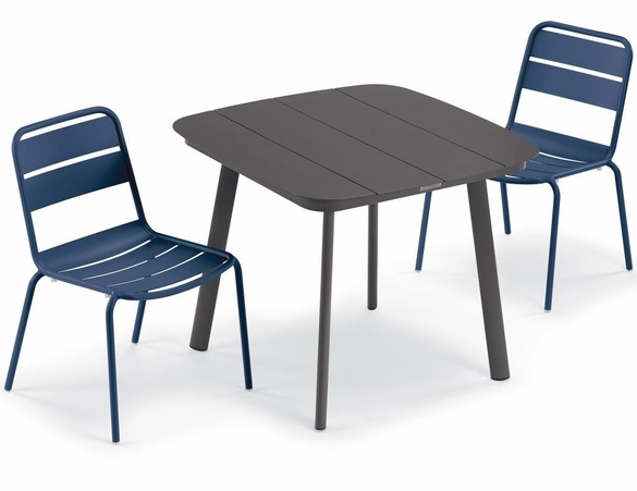 Oxford Garden Kapri 2 Seat Side Chair Dining Set
