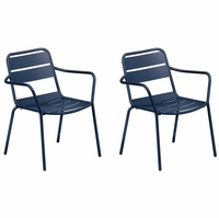 Oxford Garden Kapri Stackable Arm Chair (Set of 2) - Spring Season Sale