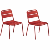 Oxford Garden Kapri Stackable Side Chair (Set of 2) - Spring Season Sale