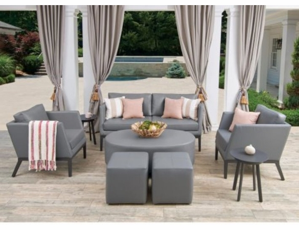 Oxford Garden Salino Nauticau Pouf Coffee Table - Additional Summer Sale Pricing