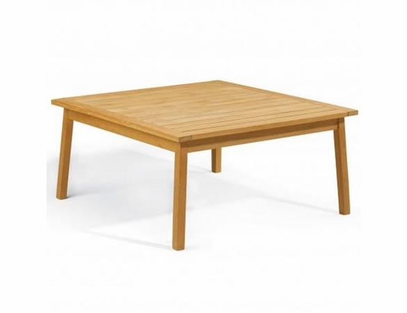 """Oxford Garden Siena Shorea 42"""" Chat Table - Reduced Closeout Pricing"""