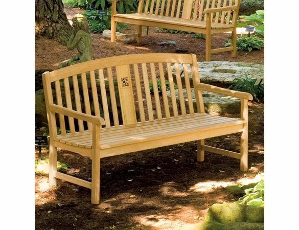 Oxford Garden Signature Series 5' Engravable Teak Bench - Cyber Monday Sale Pricing