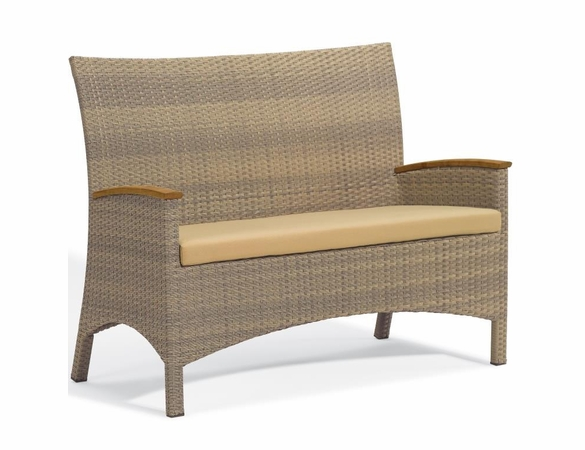 Oxford Garden Torbay Wicker Loveseat - Reduced Closeout Pricing