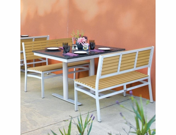 """Oxford Garden Travira 3 Piece Lite-Core Bistro Set with 34"""" x 48"""" Table - Reduced Closeout Pricing"""