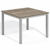 "Oxford Garden Travira 39"" Square Tekwood Top Dining Table - Additional Holiday Discounts - Good 'til Dec 9"