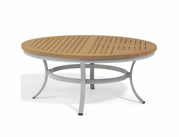 """Oxford Garden Travira 47"""" Round Tekwood Top Chat Table - Additional Summer Sale Pricing"""