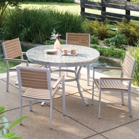 "Oxford Garden Travira 5-Piece Lite-Core Dining Set with 48"" Round Table - Spring Season Sale"