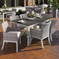 """Oxford Garden Travira 7 Piece Dining Set with 63"""" x 40"""" Table"""
