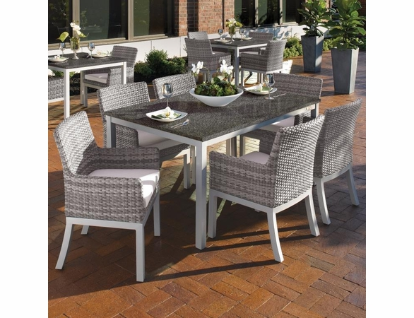 """Oxford Garden Travira 7 Piece Dining Set with 63"""" x 40"""" Table - Extra Spring Preview Discounts"""