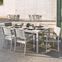 "Oxford Garden Travira 7-Piece Lite-Core Dining Set with 63"" x 43"" Rectangular Table"