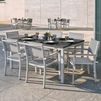"Oxford Garden Travira 7 Piece Lite-Core Tekwood Dining Set with 63"" x 40"" Table - Additional Summer Sale Pricing"
