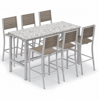 "Oxford Garden Travira 72"" Lite Core 7-Piece Bar Table Set - Summer Sale Event Additional Discounts - Lasts 'til Sept 8"