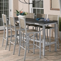 "Oxford Garden Travira 72"" Lite Core 7-Piece Bar Table Set - Additional Summer Sale Pricing"