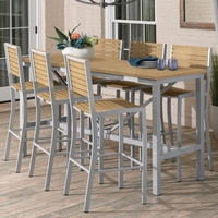 "Oxford Garden Travira 72"" Tekwood 7-Piece Bar Table Set - Spring Season Sale"