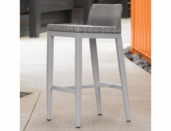 Oxford Garden Travira Argento Resin Wicker Bar Chair - Set of 2 - Additional Summer Sale Pricing