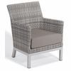 Oxford Garden Travira Argento Resin Wicker Club Chair - Set of 2 - Extra Spring Preview Discounts