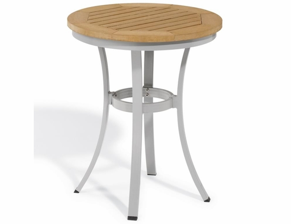 """Oxford Garden Travira Round Cafe Tekwood Round Top Bistro Table - 24"""" or 36"""" Dia - Additional Summer Sale Pricing"""