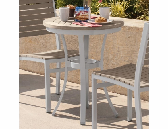 "Oxford Garden Travira Round Cafe Tekwood Round Top Bistro Table - 24"" or 36"" Dia - Additional Overstock Discounts"