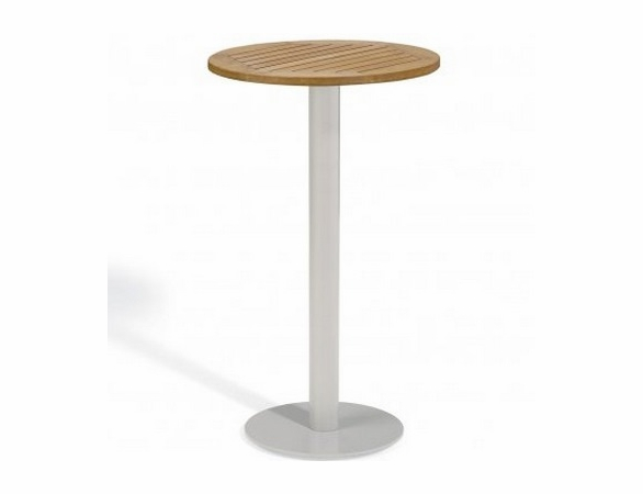 """Oxford Garden Travira Round Tekwood Top Bar Table - 24"""", 32"""" or 36"""" Dia - Additional Summer Sale Pricing"""
