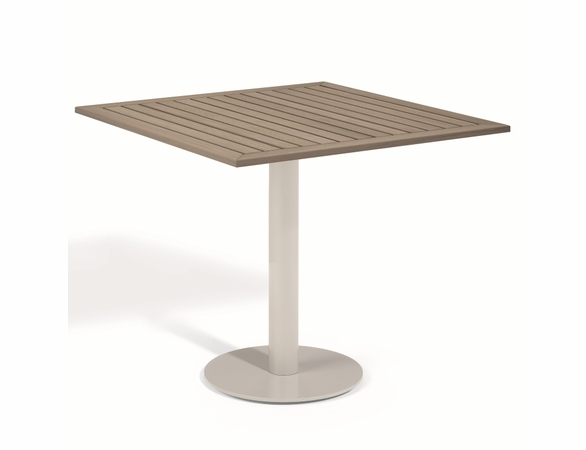 "Oxford Garden Travira Square Tekwood Top Bistro Table - 24"", 32"" or 36"" Dia"