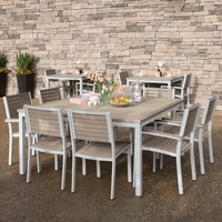 Oxford Garden Travira Tekwood 8 Seat Square Dining Set - Additional Summer Sale Pricing