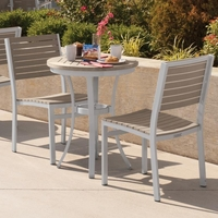 Oxford Garden Travira Tekwood Bistro Set - Additional Summer Sale Pricing